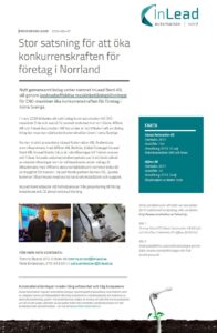 Pressrelease InLead Nord AB